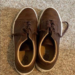 Men's Brown Leather Vans!